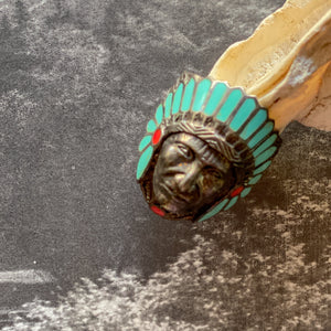 Vintage Chief Turquoise Ring