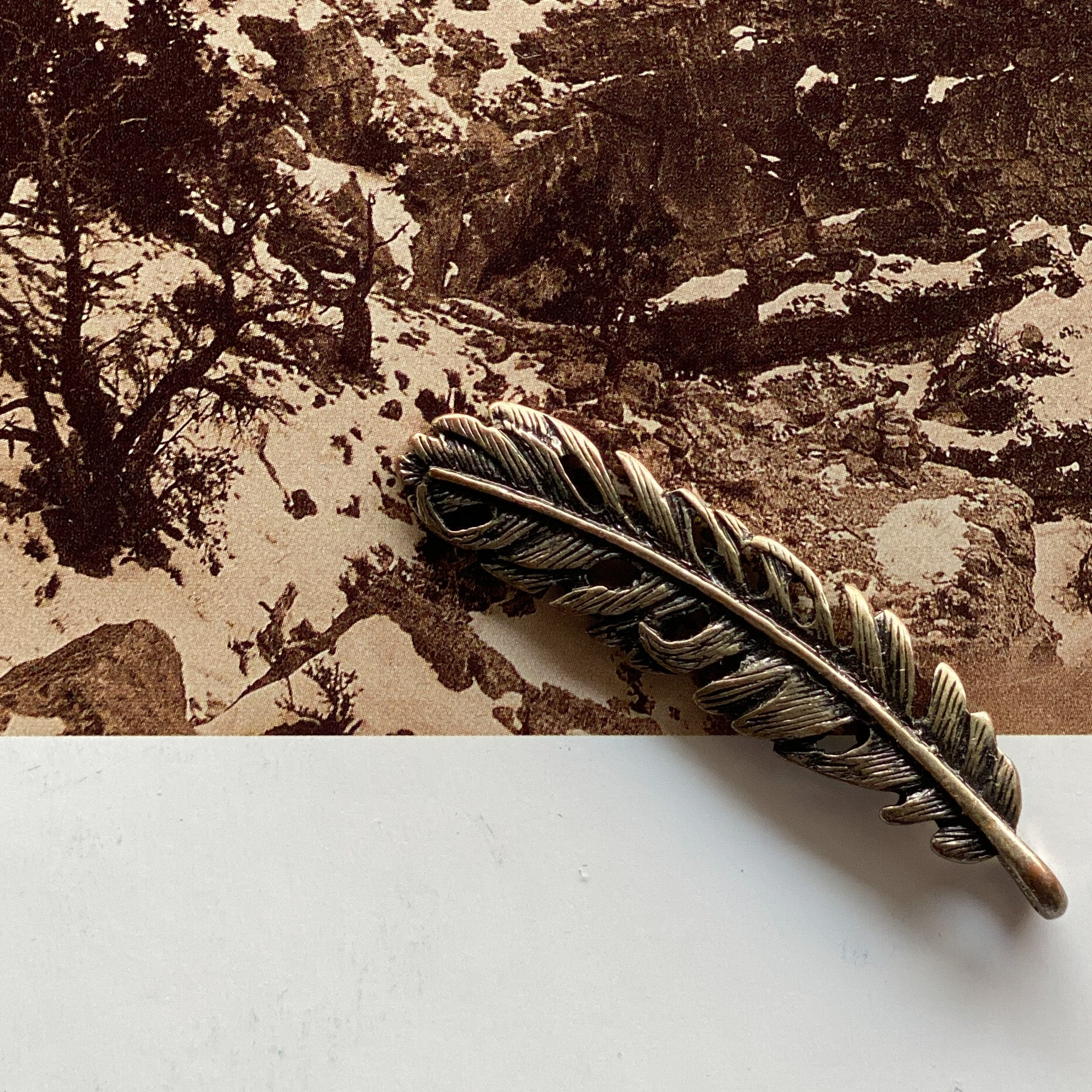 Vintage Feather Pendant