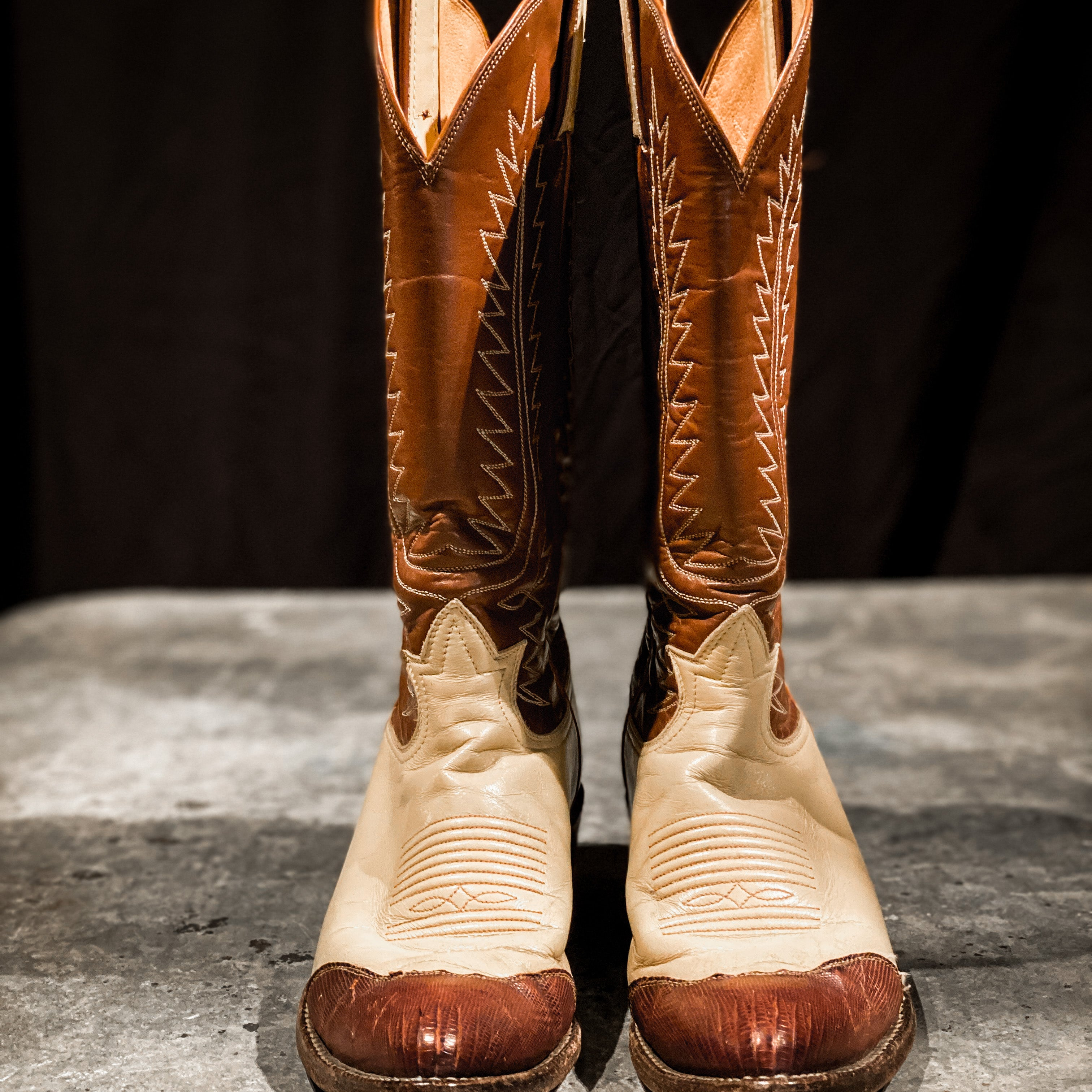 Vintage Tony Lama Wing Tip Boots