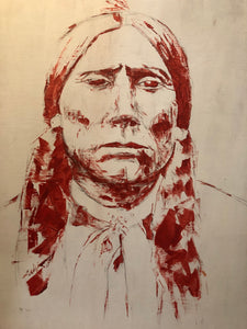Quanah Parker Red Native Art