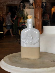White/Natural Hat Flask