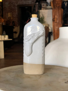 White/Natural Horse Flask