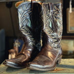 Vintage Justin Chocolate Brown Boots
