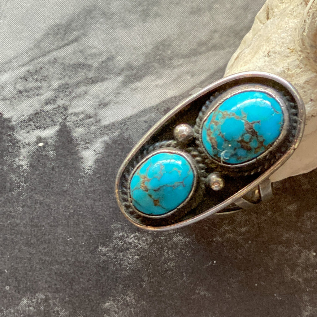 Vintage Double Turquoise Ring