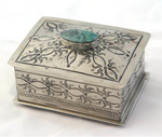 Small Stamped Box with Turquoise Nº4