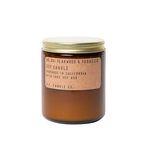 Teakwood + Tobacco Candle 7.2 oz