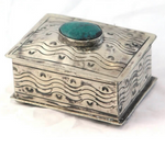 Small Stamped Box with Turquoise Nº2
