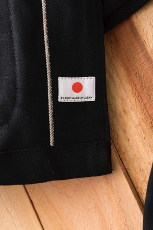 Tellason Black Japanese Selvedge Denim Coverall Jacket