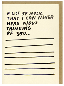 Songs Card