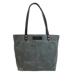 Waxed Market Tote Charcoal