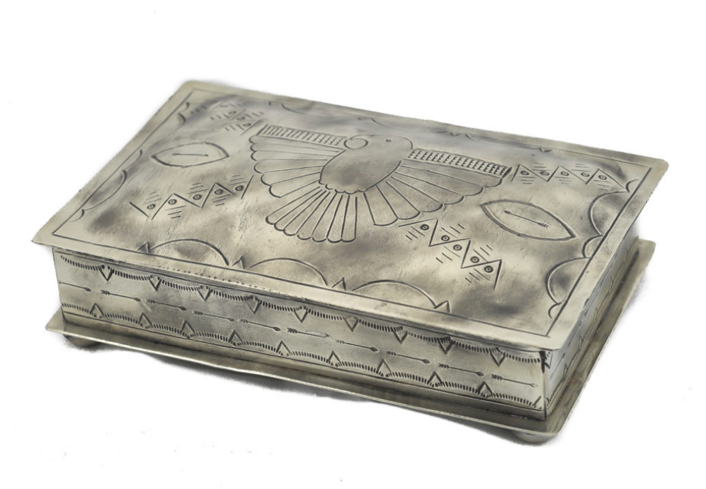 Stamped Thunderbird Rectangular Box
