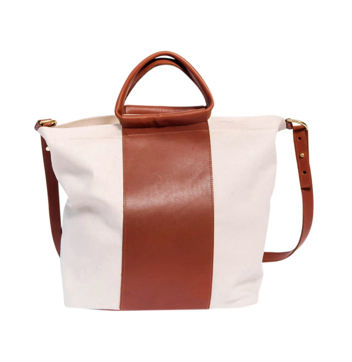 Two Tone Work Bag Cognac
