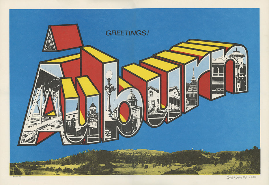 Greetings Auburn Poster