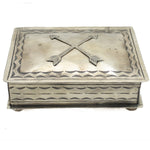 Stamped Box W/Crossed Arrows
