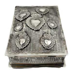 Stamped Box W/Sacred Hearts