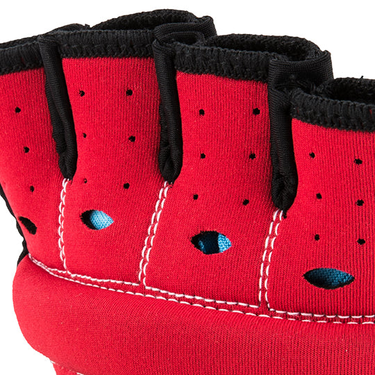 Perforation on underside keeps hands cool and athletes comfortable.