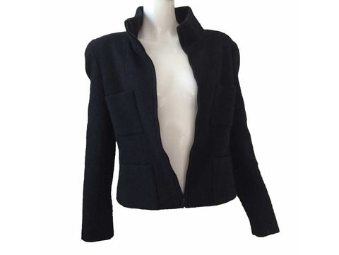 Chanel Navy Cashmere Jacket