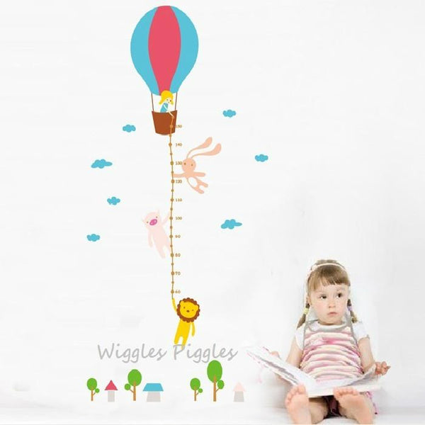 Air Balloon Height Chart - Wiggles Piggles