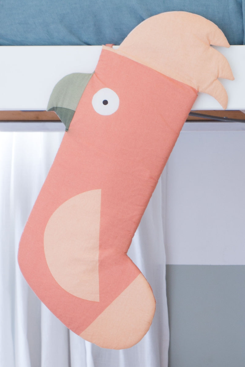 Wiggles Piggles x Philip Bunting Christmas Stocking (Galah)