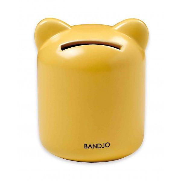 Bandjo Money Box Yellow Cat - Wiggles Piggles  - 1