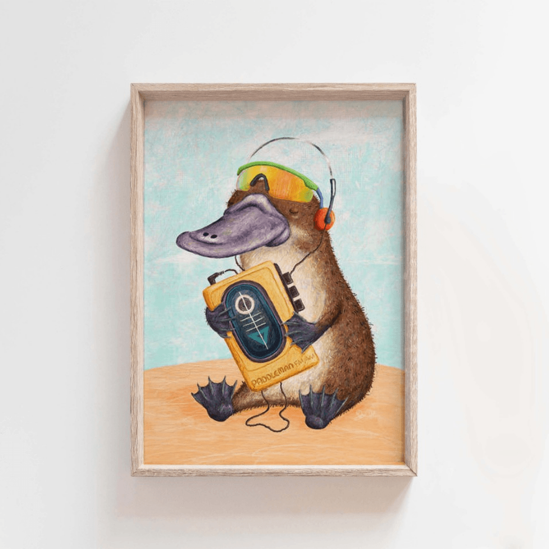Beau Wylie Illustrations Chill Bill Print