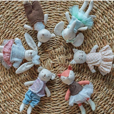 Bloomingville Mini Set of 6 Soft Doll Set