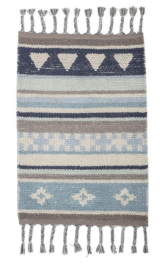 Bloomingville Mini Cotton Rug (Blue)