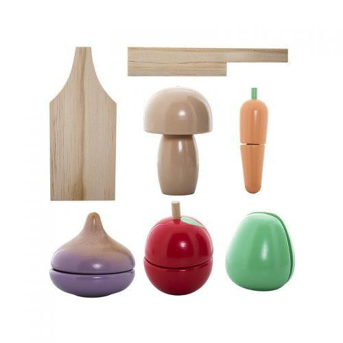 Bloomingville Mini Wooden Vegetable Set - Wiggles Piggles