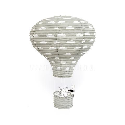 Bloomingville Mini Paper Hot Air Balloon Lantern (Grey)