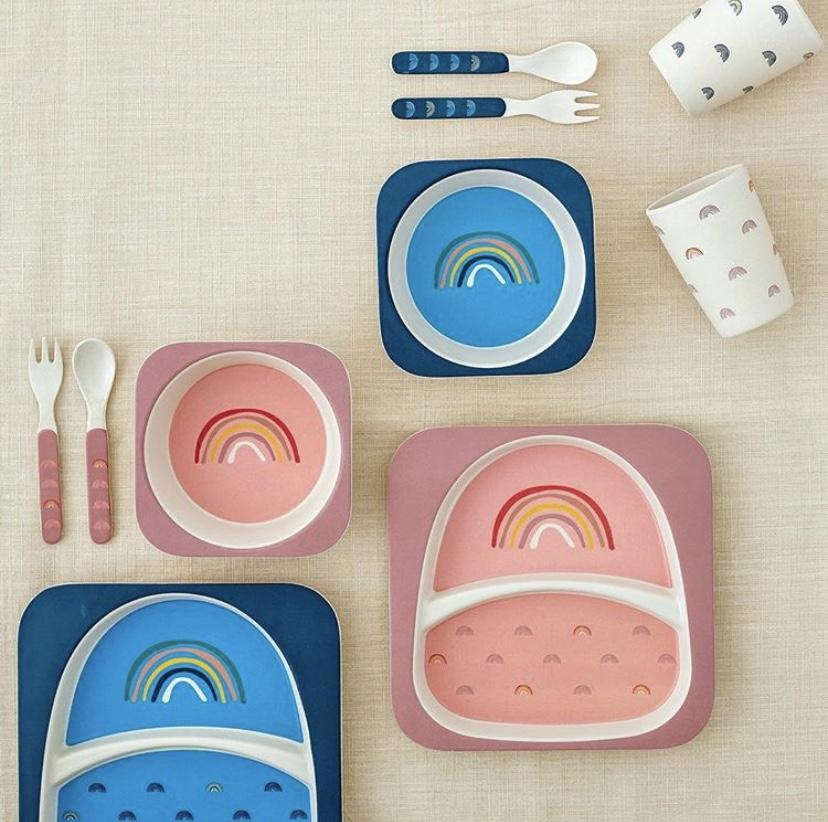 Bloomingville Mini Rainbow Bamboo Set (Blue)