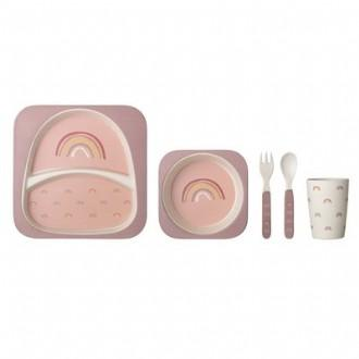 Bloomingville Mini Rainbow Bamboo Set (Rose)