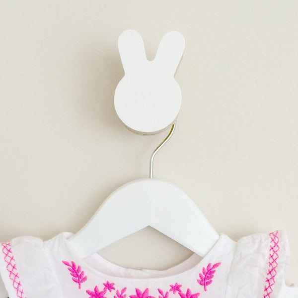 Bunny Wall Hook - White - Wiggles Piggles  - 1