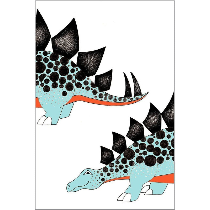 Chasing My Tail Stegosaurus Print - Wiggles Piggles  - 1