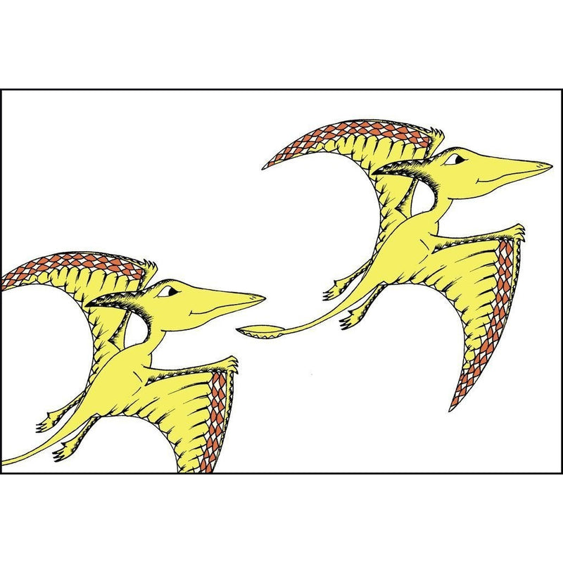 Flying Pterodactyl Twins Print - Wiggles Piggles  - 1