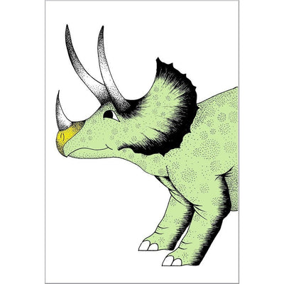 Pouncing Triceratops Print - Wiggles Piggles  - 2