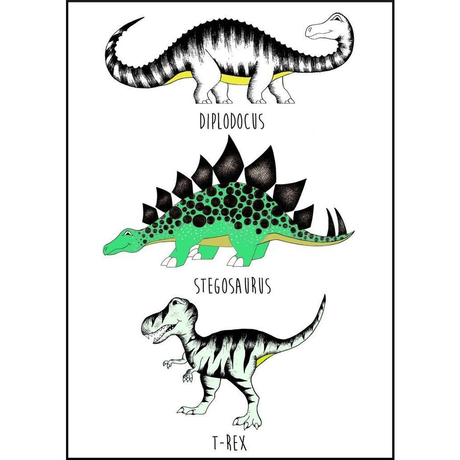 The Land of Dinosaurs Name Chart - Wiggles Piggles