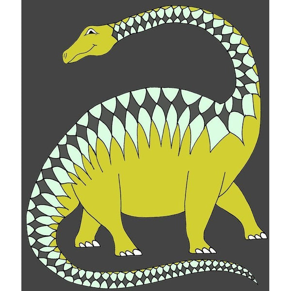 Apatosaurus Coloured Background Print - Wiggles Piggles  - 1