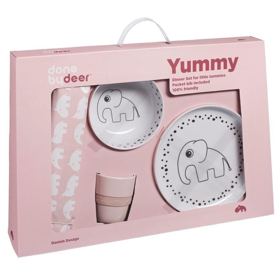 Done By Deer Happy Dots Yummy Dinner Set Powder - Wiggles Piggles  - 1