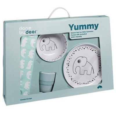 Done By Deer Happy Dots Yummy Dinner Set Blue - Wiggles Piggles  - 1