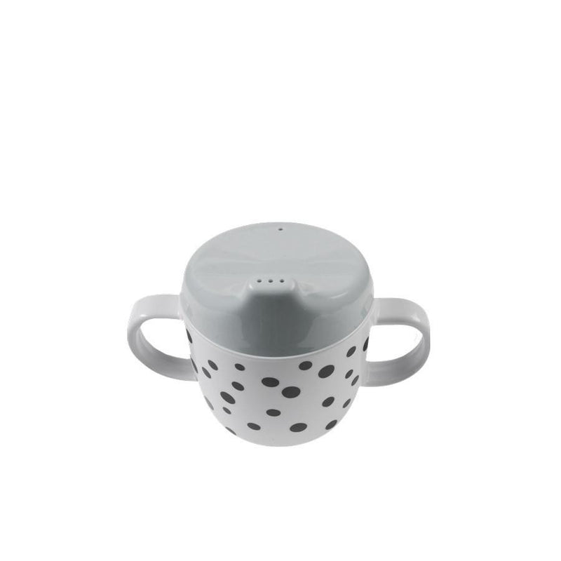 Done by Deer Happy Dots Spout Cup Grey (PREORDER) - Wiggles Piggles