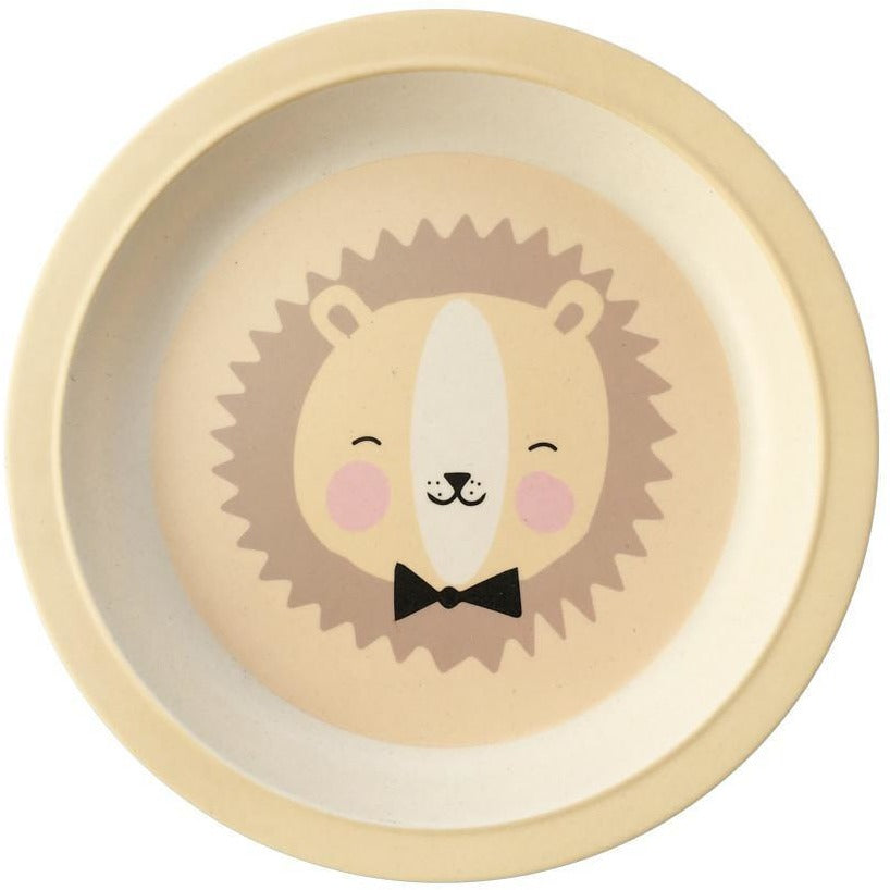 Eef Lillemor Lovely Animals Bamboo Plate - Wiggles Piggles