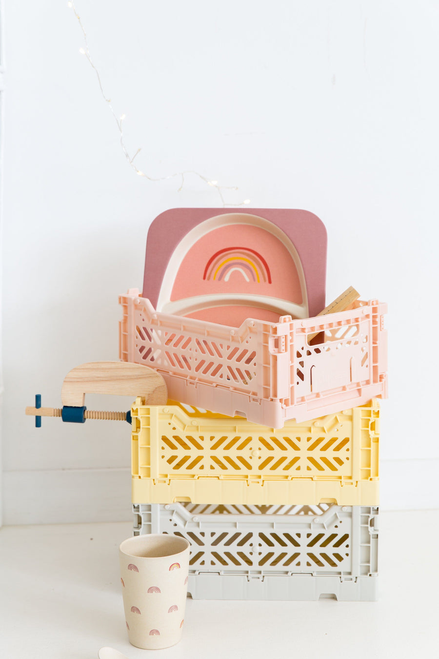 Eef Lillemor Midi Folding Crate (Banana Yellow) - PREORDER JANUARY