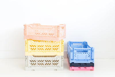Lillemor Lifestyle Midi Folding Crate (Banana Yellow)