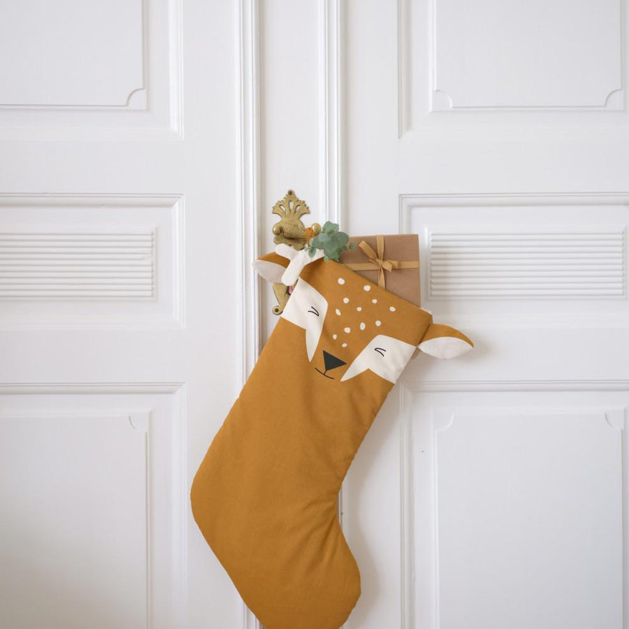 Fabelab Christmas Stocking Silly Fawn (Ochre)