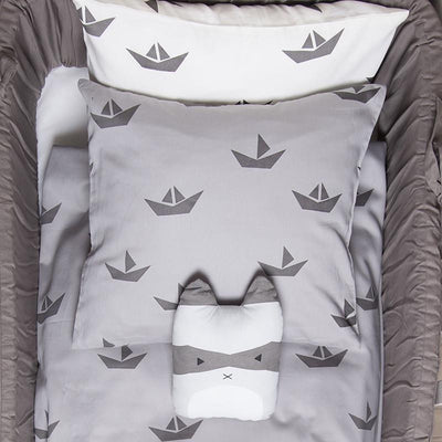 Fabelab Ship Single Quilt Cover - Grey - Wiggles Piggles  - 2