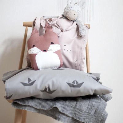 Fabelab Ship Single Quilt Cover - Grey - Wiggles Piggles  - 3