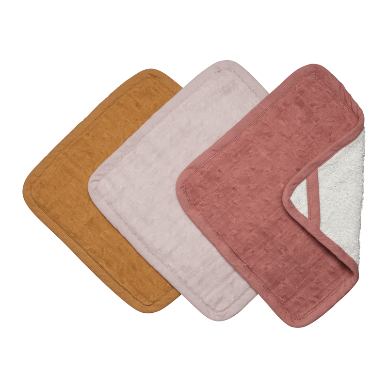 Fabelab Washcloths Three Pack (Sunset)