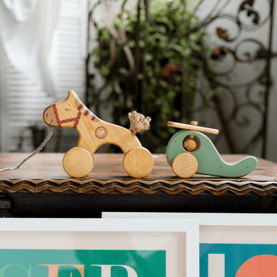 Friendly Toys Wooden Pull Along Horse