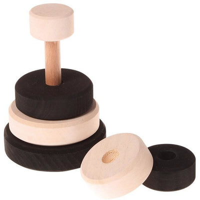 Grimm's Small Stacking Monochrome Tower - Wiggles Piggles  - 2