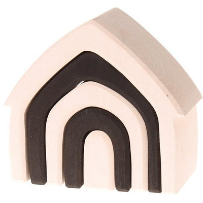 Grimm's Stacking Monochrome House - Wiggles Piggles  - 1